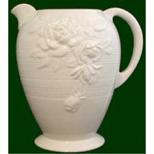 More details for royal creamware jug victorian rose size 20cm oc69 decorative art deco design