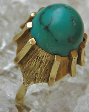 ✨ WOW ✨ antique ring in from 14k 585 Gold ✨ 7,5 G ✨ Antique with Turquoise Turquoise Turquoise