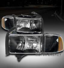 99-01 DODGE RAM 1500 SPORT HEADLIGHT W/CORNER TURN SIGNAL LAMP BLACK LEFT+RIGHT