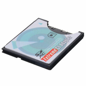 Jimier Slot Extreme For Micro SD/SDXC TF To Compact Flash CF Type I Memory Card