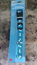 """Greenbrier Kennel Club Blue Adjustable Nylon Dog Collar -bone design  18""""-24"""""""