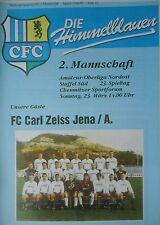 Programme 1996/97 Chemintz FC II-CZ Jena on.
