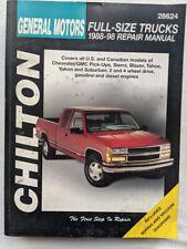 Chilton Repair Manual GM Full Size Trucks 1988-1998, 28624