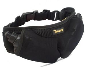 RUNCASE Running Hydration Belt 2 x 300ml Bottles + Bum Bag Phone Keys Energy Gel