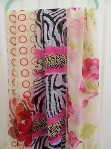 LADIES LONG CHIFFON SCARF 5 STYLES BNIP