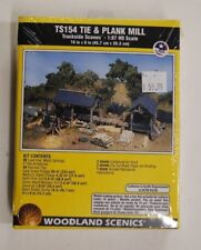 "HO Scale Woodland Scenics ""Trackside Scenes"" 154 * Tie & Plank Mill Kit"