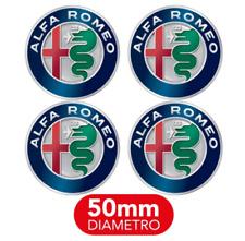 4 Tappi Coprimozzo adesivi per Alfa Romeo 50mm 147 156 GT Giulia 2016 Mito