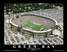Green Bay Packers OLD LAMBEAU FIELD (c.1996) Classic Aerial View Poster Print