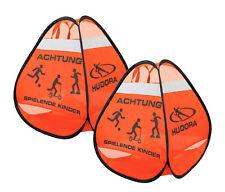 Hudora Safety Pop Up Set / Straßenwarnschild: Achtung spielende Kinder