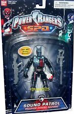"Power Rangers SPD 5"" Sound Patrol Shadow Ranger New Factory Sealed 2004"