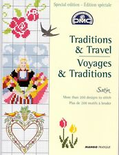 """DMC """"Traditions and Travel"""" Satin Threads Chart Booklet"""