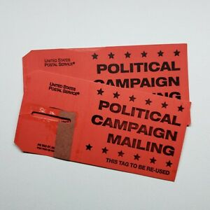 Tag 57 - March 1977 - Political Campaign Mailing - Red Container Tag (2 Piece)