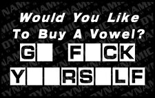 Large Go F*ck Yourself funny humor JDM  Sticker car window vinyl decal