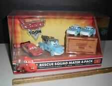 Disney Cars Rescue Squad Mater 4 Pack Sealed - Toon Cars - Pixar - McQueen