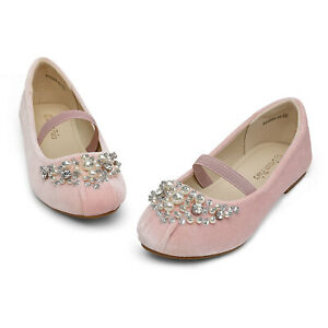 Kids Girls Flat Shoes Casual Mary Jane Shoes Princess Party Wedding Shoes PINK