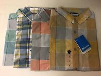 NWT Columbia Thompson Hill II Short Sleeve Plaid Yarn Dye Shirt Sz S/M/L/XL/2XL