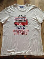 """RARE ADIDAS ORIGINALS """"City serie's London T-SHIRT taglia XL 48"""" petto anni'80 Casuals"""