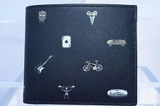 New Paul Smith Men's Black Wallet Bifold Cufflink Credit Card Case Sale Gift