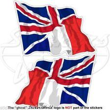 FRANCE Uni Royaume Vol Drapeau Union Jack Vinyle Stickers Autocollants 120mm x2