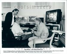 1997 Das Boot Director Wolfgang Petersen Movie Editor Hannes Nikel  Press Photo