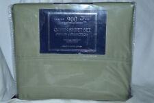 Luxury Sateen-Devon Collection 900TC Queen Sheet Set Green NIP