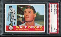 1960 Topps Baseball #79 WALT DROPO Baltimore Orioles PSA 7 NM