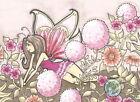 Floral Stretch Cartoon Fairy Flowers fae Open Edition Fantasy ACEO art PRINT ejw