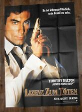 James Bond 007 Licence To Kill - VERY LARGE GERMAN POSTER 118cm x 83cm