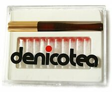 NEW Denicotea 20205 Ejector Brown Cigarette Holder with 10 Filters SHIPS FREE