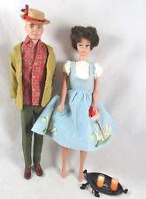 Brunett Bubblecut Barbie Ken Dolls Friday Night Date Dreamboat 1960s Outfits VTG