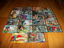 LOT OF 22 DIFFERENT DC OVERPOWER HERO CARDS - DOOMSDAY, BANE, ROBIN, BRAINIAC