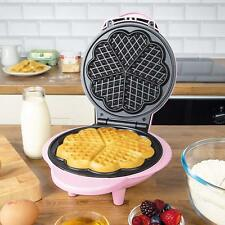 Global Gizmos Waffle Maker, 1000 Watt, divertente rosa, antiaderente 5 forma a cuore waffle