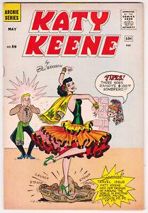 Katy Keene #59 Very Good Plus 4.5 Archie Series Bill Woggon Art 1961