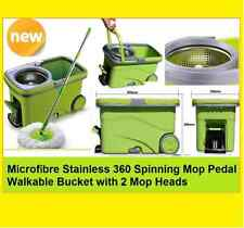 2019 HQ 360 Spinning Microfibre Mop Wet/Dry Spin Bucket with 2 Mop Heads