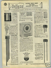 1940 PAPER AD Nutone Door Bels Chimes Westminster Cathedral Clock Time