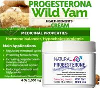 Essential Menopause Relief Wild Yam and Progesterone Cream 4 oz 1000 mg usp