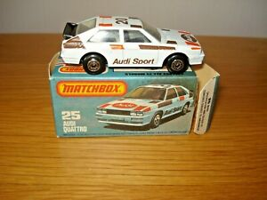Matchbox Lesney No 25 Audi Quattro mint model and box