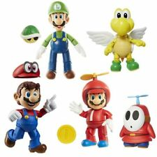 "Jakks World of Nintendo Mario Luigi Koopa Shy 4"" Figure Wave 13 Series 3-1 Set"