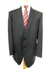 """M&S Collezione Mens Formal suit Jacket Ch46""""L Black self Stripe wool & Cashmere"""