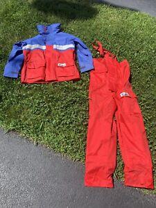 Grottos Offshore Sailing Jacket Bib Pants for Men Women Fishing Rain Suit Small