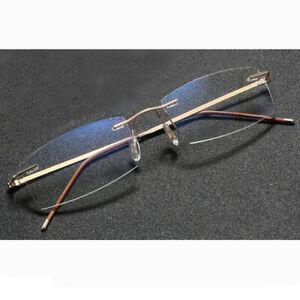 +1.5 Fashion Gold Rimless Reading Glasses Flexible Frame Eyeglasses Eye Reader