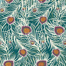 Fat Quarter Liberty Piper's Peacock Dark Green Cotton Quilting Sewing Fabric