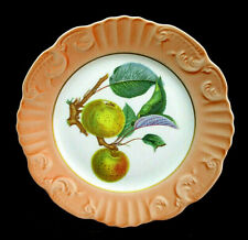 "Salad Dessert Plate Mottahedeh Vista Alegre SUMMER FRUIT Apples Peach Rim 8"" EUC"