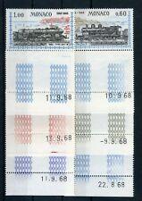 MONACO Nr.896-901 ** EISENBAHN - LEERLELF + DRUCKDATUM !!! (116634)