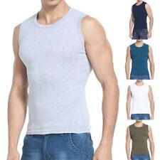 Summer Mens Casual Cotton Tank Tops Sleeveless Vest Fitness Bodybuilding T-Shirt