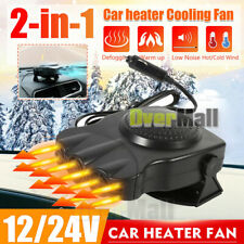3-Outlet Dc12V Car Travel Heater Warmer Thermostat Fan Window Defroster Demister