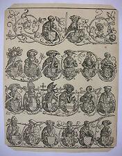 ERHARD SCHÖN `STAMMBAUM DES HAUSES WITTELSBACH` HOLLSTEIN 178; HOLZSCHNITT ~1530
