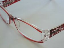 Foster Grant Red Reading Glasses Eyeglass Cord Compact Readers with Case +2.00