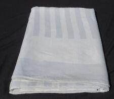 Vtg Antique Irish LINEN Double Damask Tablecloth 142X70 Mill Mark Satin Stripe