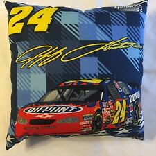 NEW 15 X 15 JEFF GORDON #24 COMPLETE PLAID NASCAR RACING PILLOW - SUPER GIFT